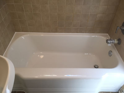 Newly Refinished Beige Bathtub And Sink ...
