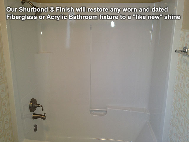 Bathtub refinishing with Shurbond � Finish